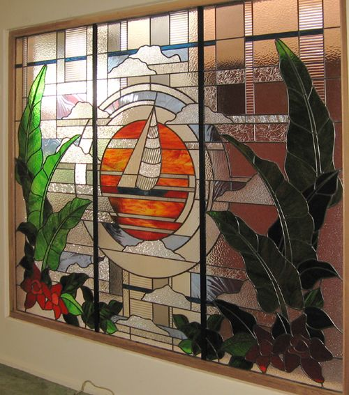 Contemporary leadlight by Adelaide Leadlight Centre