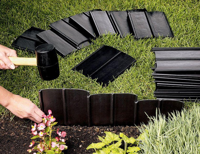 Pound In Plastic Landscape Edging Lawn Edging Landscape Edging Garden Edging Garden Beds