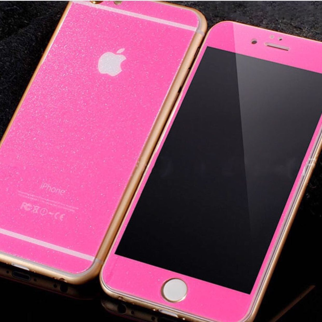 new concept 6f917 f85e2 Glitter Glass Screen Protector iPhone 6 / 6 Plus - Front and Back ...