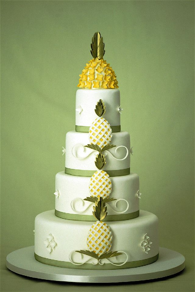 Eating Hawaii Pineapple Wedding Cake Hawaiian Time Machine - Pineapple Wedding Cake