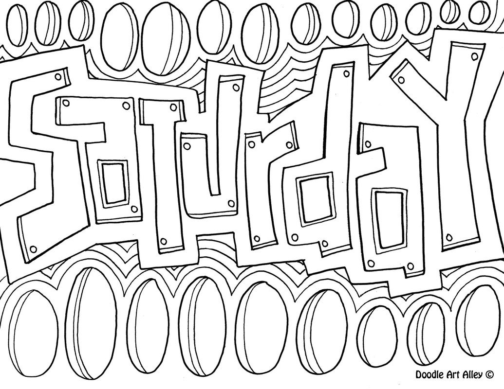 Enjoy Some Days Of The Week Coloring Pages These Are