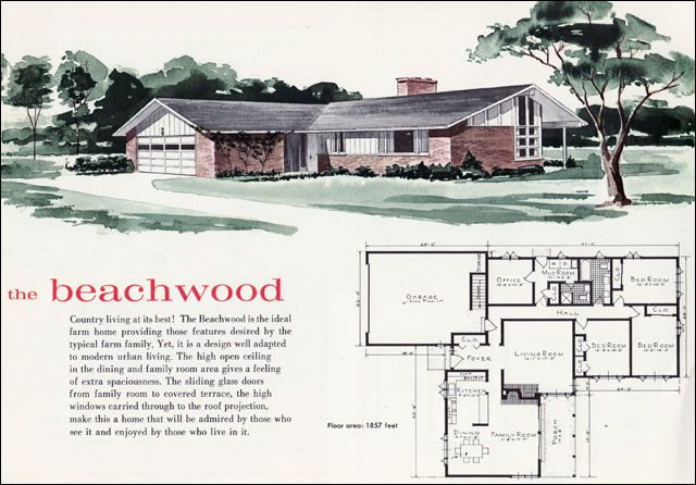 Pin By Enrique Cadavid On Vintage Architecture Mid Century Modern House Plans Mid Century Modern House Modern House Plans