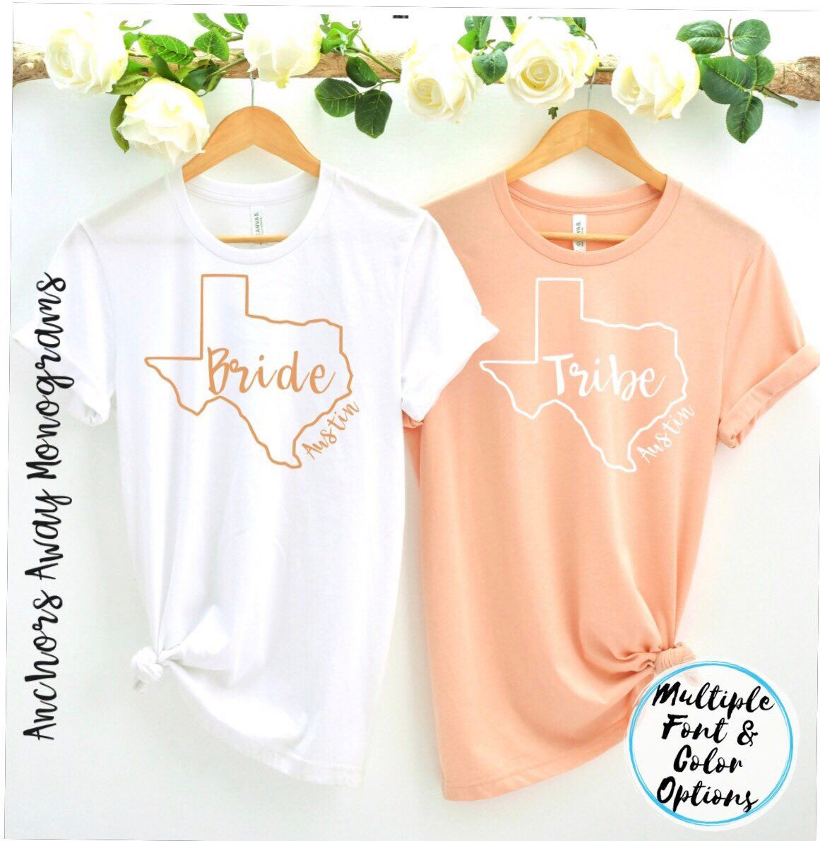 Austin Bride Tribe Shirts Bachelorette Party Shirts Custom Bridal