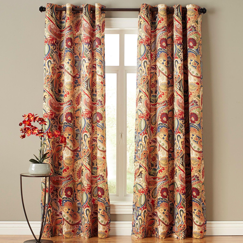 Vibrant Paisley Grommet Curtain
