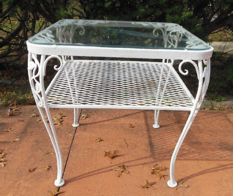Table Woodard Chantilly Rose With Images Vintage Outdoor