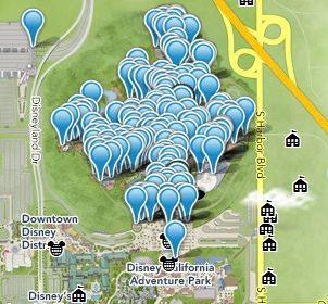 image regarding Printable Map of Disneyland named Latest Printable Map of Disneyland Topic Park in just Anaheim