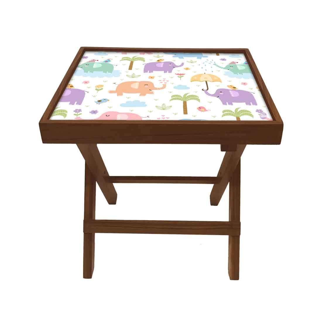 Nutcase Designer Teak Wood Side Table Folding Wooden Bedside Kids Baby Nursery Furniture Fun And In 2020 Teak Wood Side Table Side Table Wood Baby Nursery Furniture