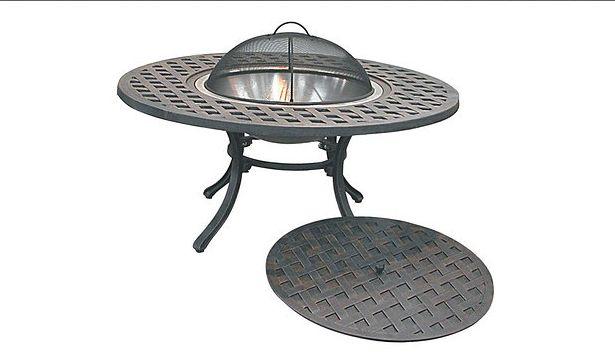 Mesa con pozo de fuego, tuercas y pernos de acero inoxidable, marco ...