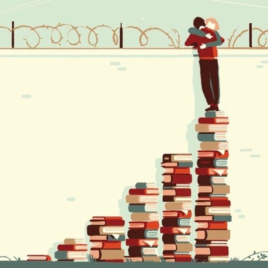 Illustrations about books - Tom Haugomat - The love of books