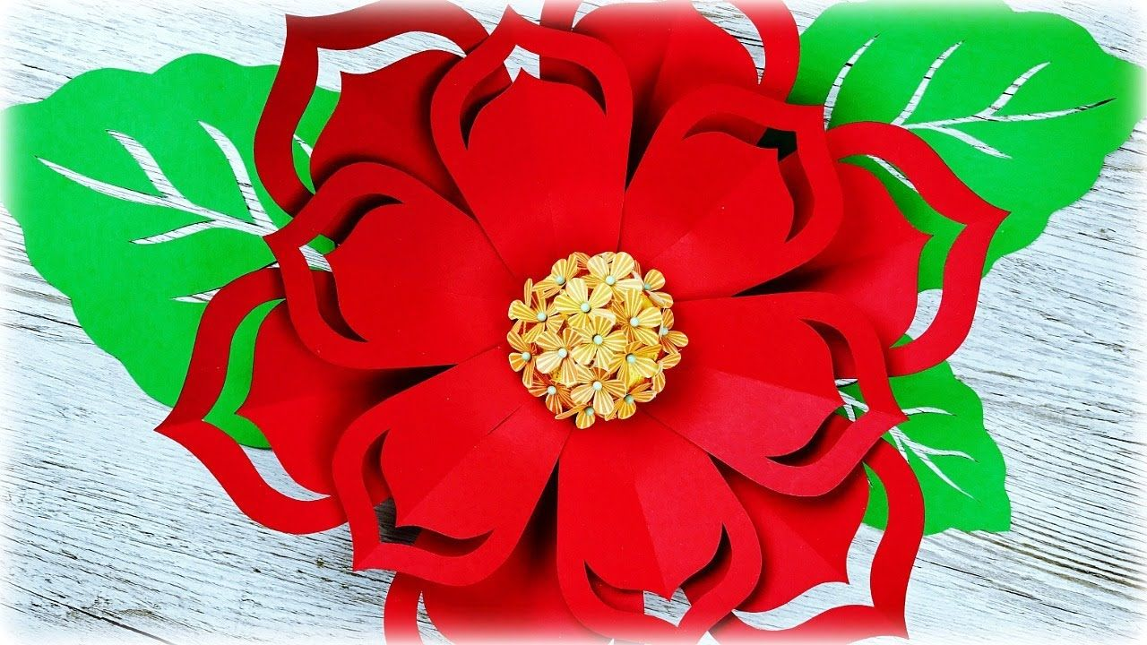 Flor gigante de papel flores de papel moldes gratis - Manualidades navidad papel ...