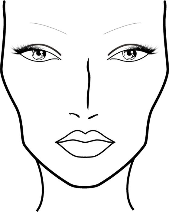 Blank Mac Face Charts Printable Схемы
