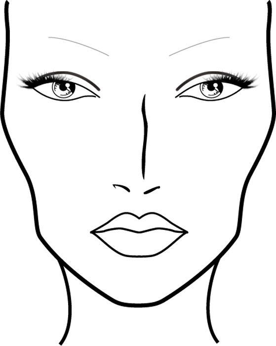 Blank Mac Face Charts Printable Sketch Coloring Page Makeup Face Charts Mac Face Charts Face Template Makeup