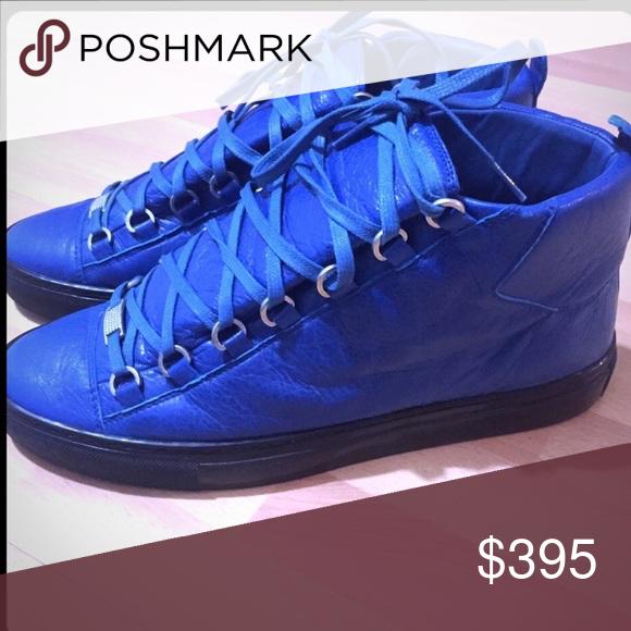 Men's Blue Arena Balenciaga sneakers