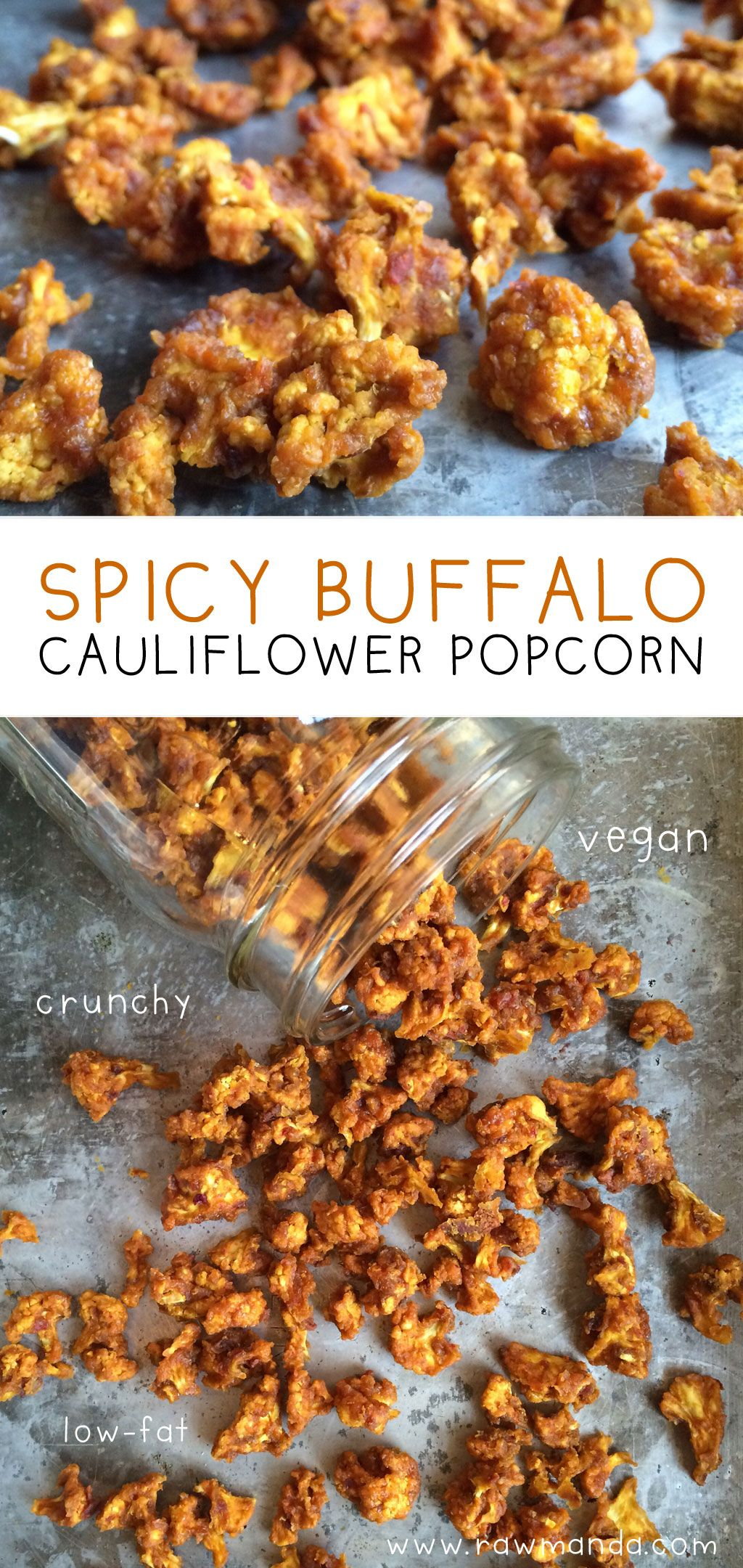 Spicy Buffalo Cauliflower Popcorn