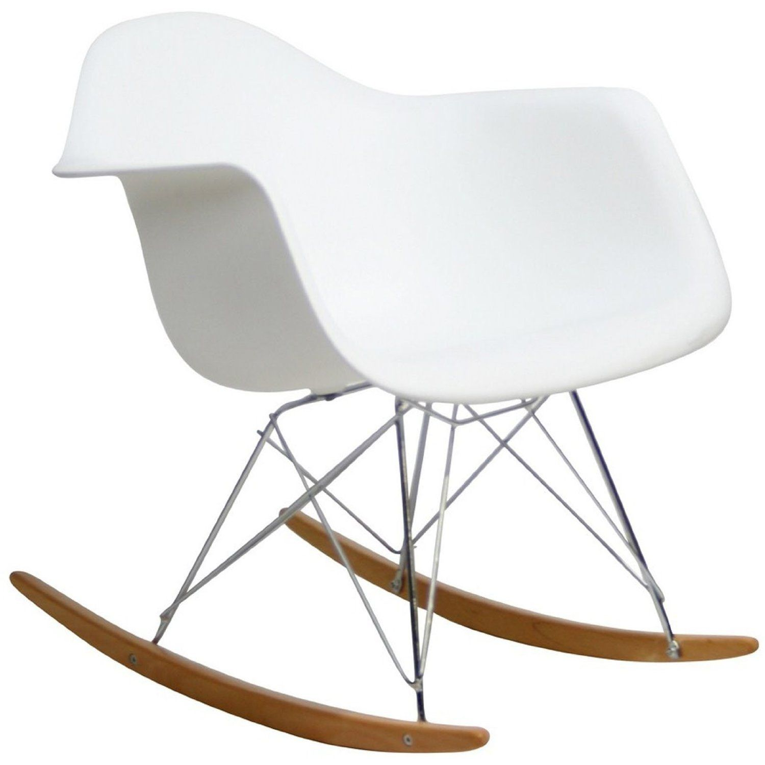 Amazon.com - LexMod Molded Plastic Armchair Rocker in White - Rocking Chairs