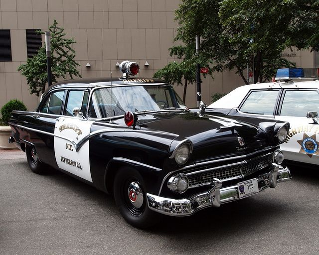 1955 ford fairlane jefferson county sheriff police car for Jefferson ford motor company
