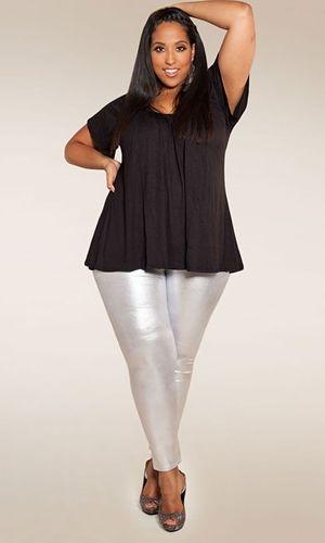 Plus Size Metallic Liquid Leggings at www.curvaliciousclothes.com ...