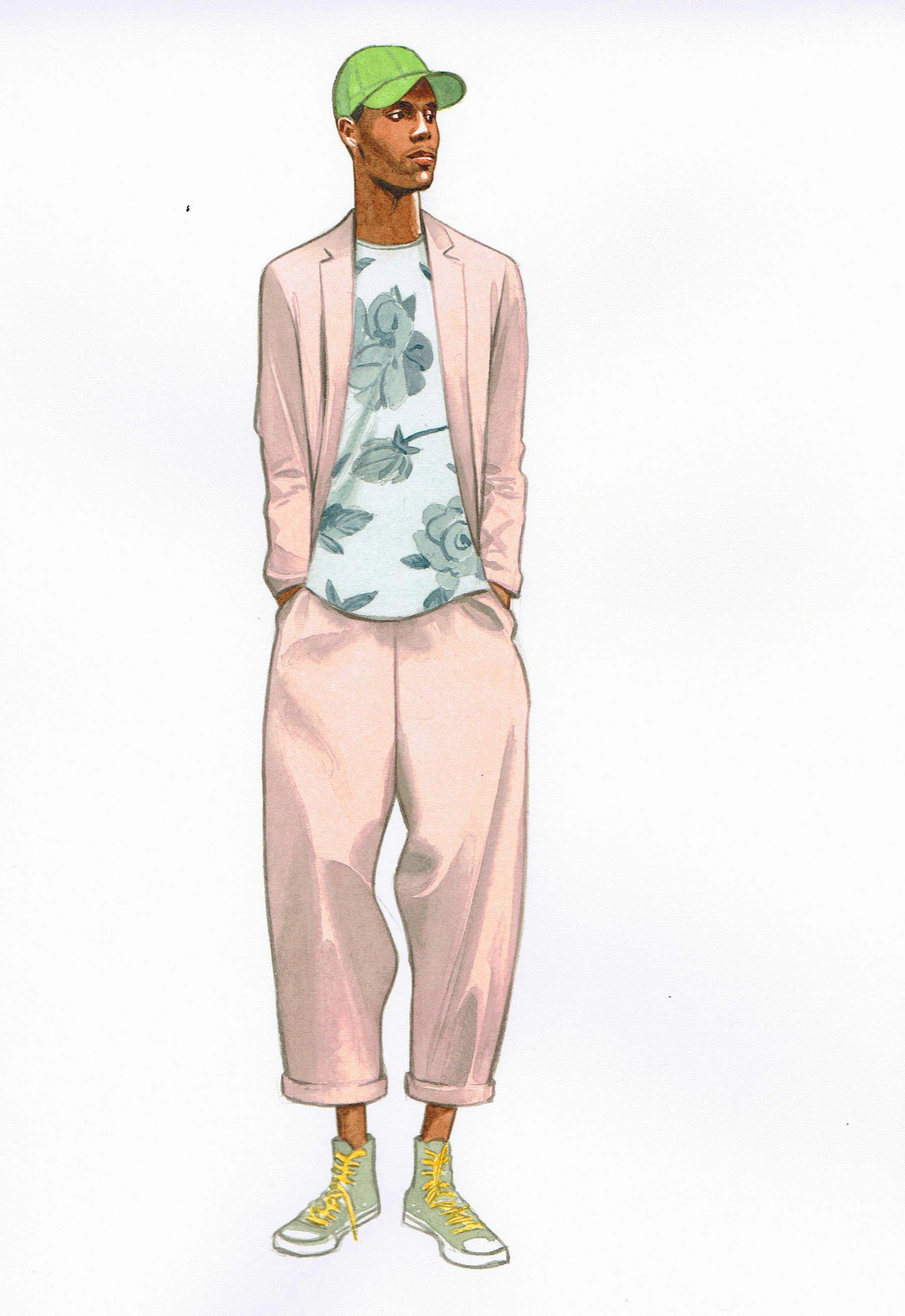 men's fashion illustration by lamont o'neal | menswear
