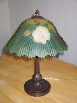 Dale Tiffany Reverse Hand Painted Table Lamp Glynda Turley Roses Glass Shade Lamp Glass Shades Hand Painted Table