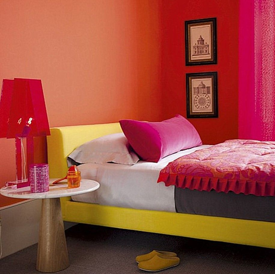 Bedrooms With Vivid Colors And Pattern