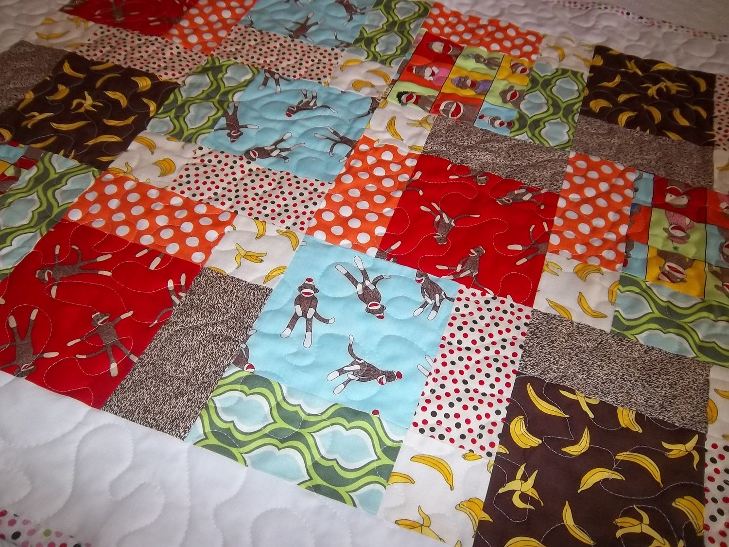 Magic 9 Block Baby Quilt Easy Baby Quilt Pattern Tutorial Pdf File