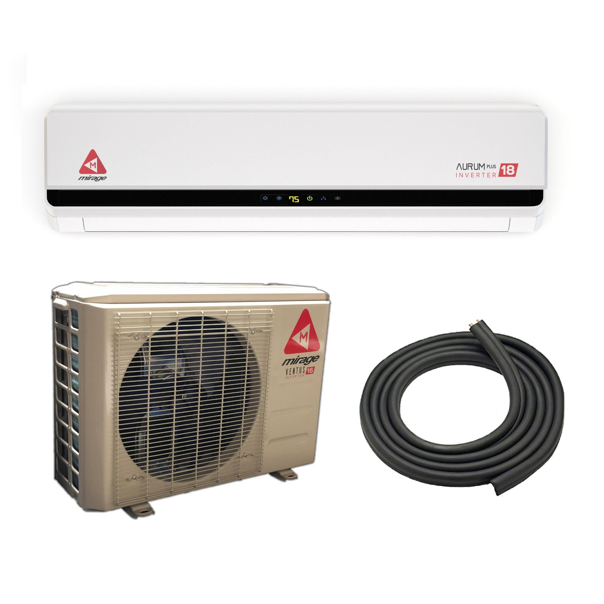 24,000 BTU Mirage 20 SEER 220V Inverter Mini Split Heat
