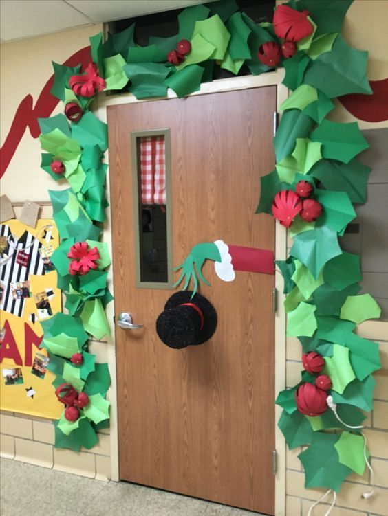 How To Make Super Easy Christmas Decorations On A Budget Sn Door Decorations Classroom Christmas Office Christmas Decorations Classroom Christmas Decorations