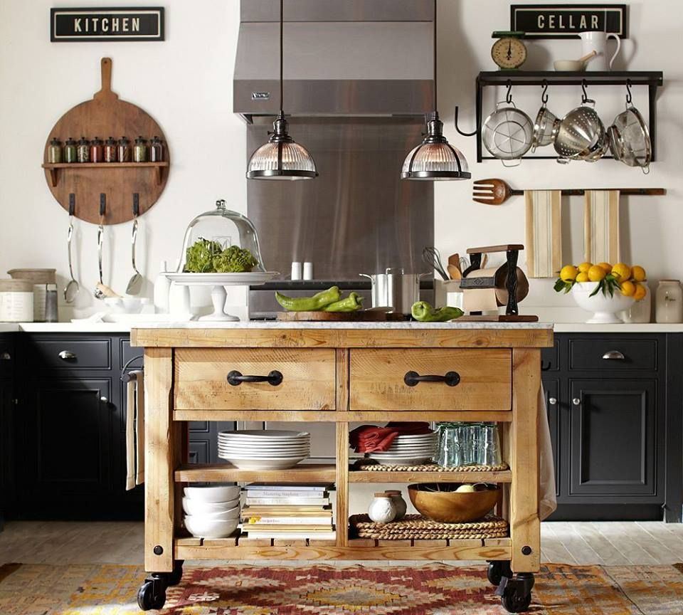 a kitchen that s on a roll kitchens pinterest kitchens hamilton reclaimed wood marble top kitchen island via edward andrews homes