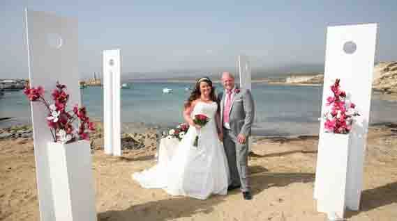 Looking For Beach Weddings Abroad Book Your Wedding On The First Ceremony Venue In Cyprus Packages Start From 340 Euros