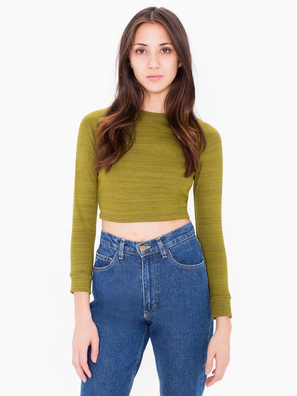 Solid Long Sleeve Ponte Crop Raglan Sweater | fashion | Pinterest ...