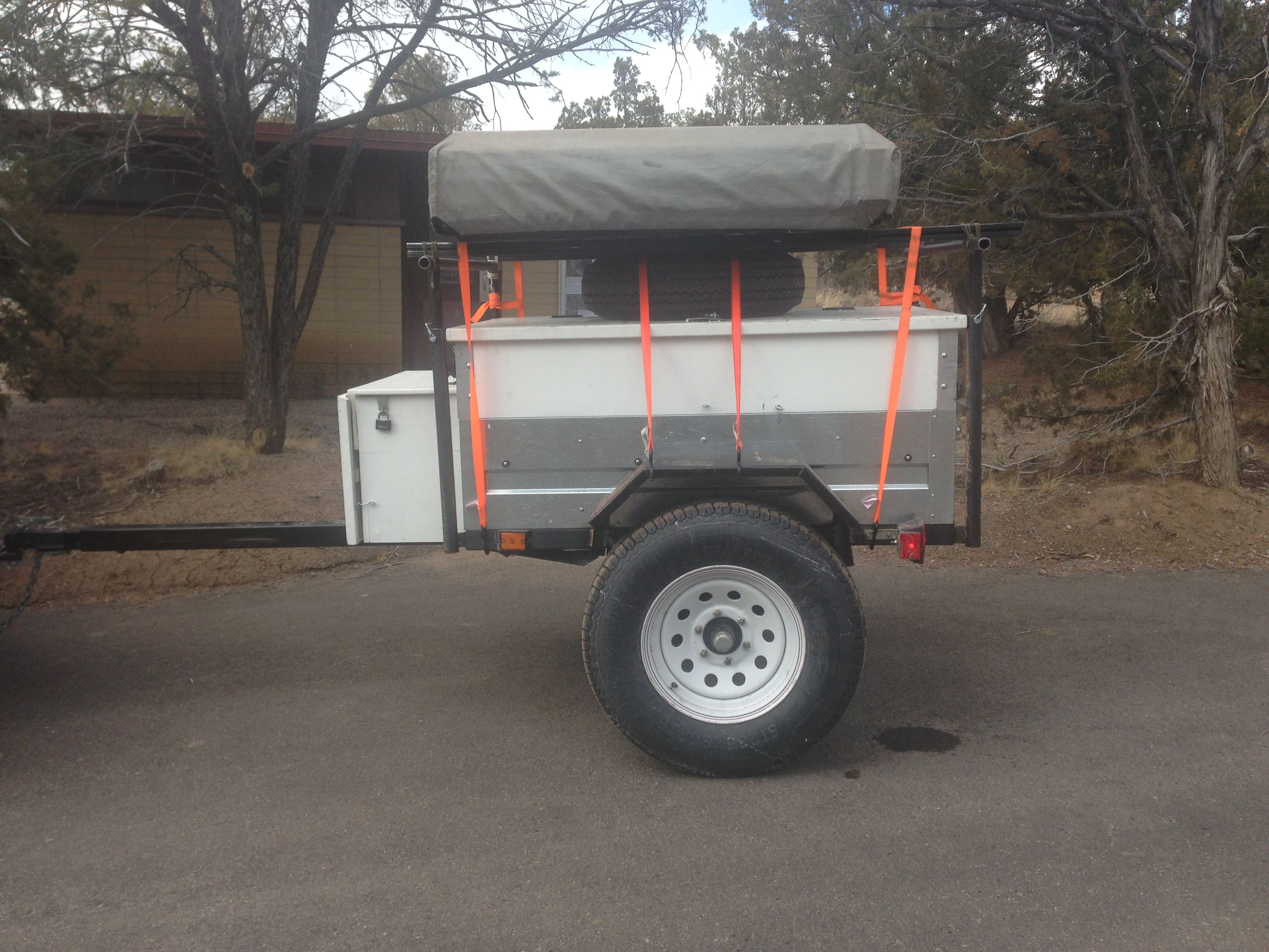 About 40 There Suspension Complete And Roof Top Tent Mounted Roof Top Tent Overland Trailer Top Tents