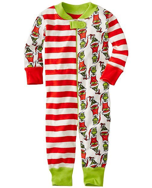 Seuss The Grinch Christmas Baby Boys Girls Footed Sleeper Dr