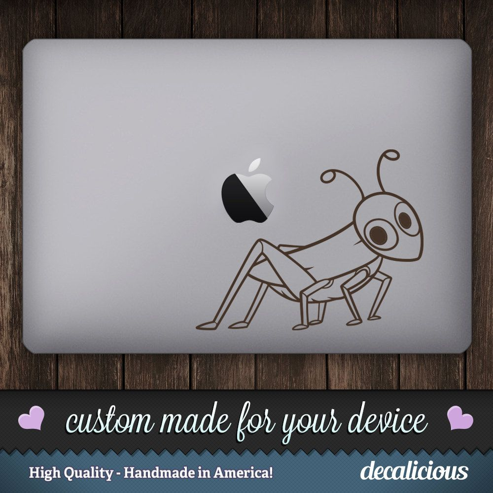 GRASSHOPPER Vinyl Decal Sticker MACBOOK Decal Macbook Sticker - Custom vinyl decals macbook