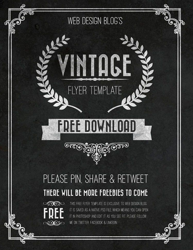 Free Vintage Flyer Template All Things Random Pinterest Flyer