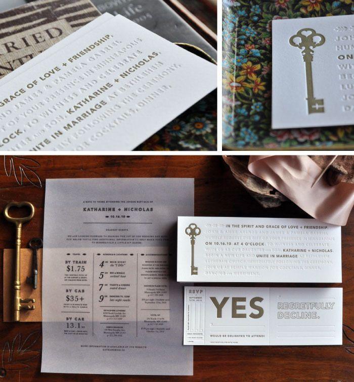 Kate Nick Wedding Invitations Letterpresses Wedding And