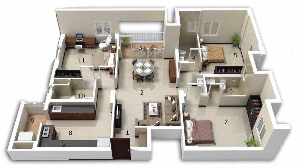 Modèle villa contemporaine 100M2 demi étage AGATE - Azur Logement