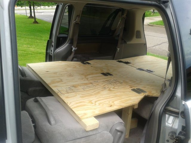 Convertible Bed For A Honda Odyssey Camping Hacks Pinterest