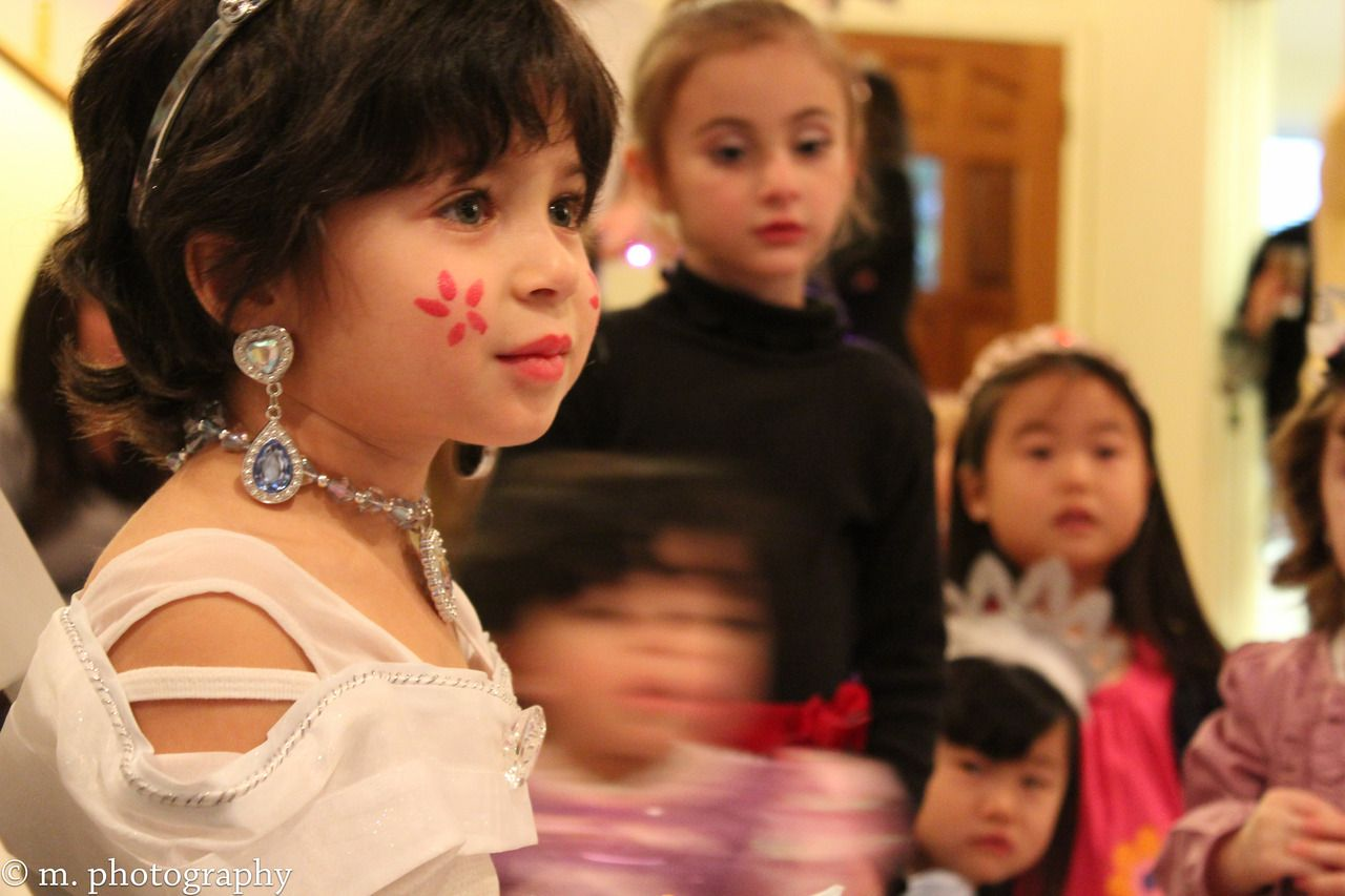 So Cute :) Cinderella came to face paint for this little princess' 4th birthday party...the kids were mesmerized by her!
