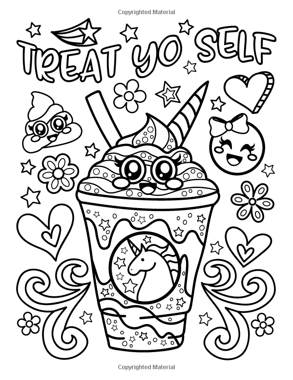 Amazon.com: Emoji Coloring Book For Girls: Of Funny Stuff, Inspirational  Quotes & Super Cute Animals… Emoji Coloring Pages, Unicorn Coloring  Pages, Coloring Books