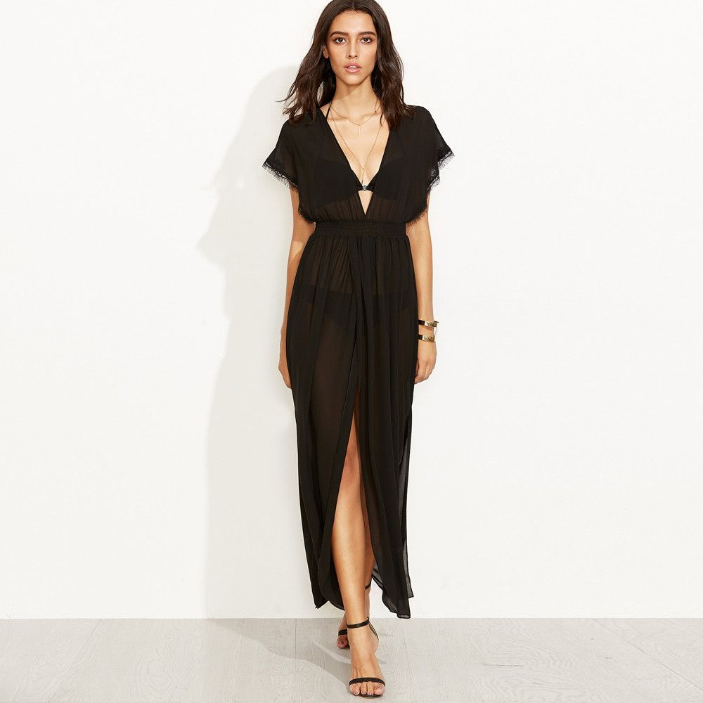Seethrough black beach dress beach dresses beach and black