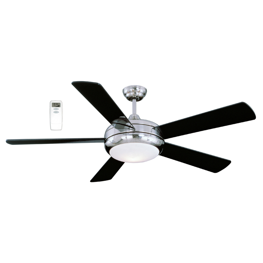 Shop Litex 52in Satin Chrome Ceiling Fan with Light Kit