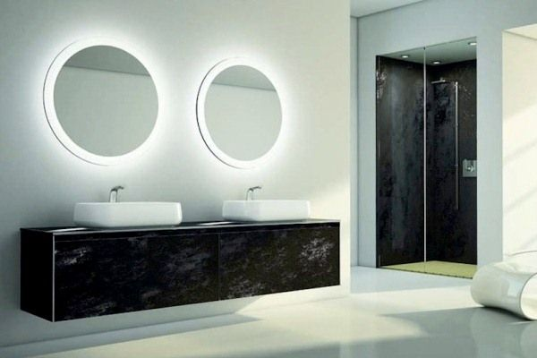 Ove Decors Villon Led Bathroom Mirror: Joyous Bathroom Round Mirrors Nz Cheap Small Modern