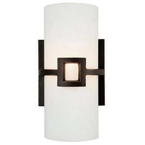 DHI Accents Design House Monroe Wall Sconce Oil Rubbed Bronze - Single light bathroom wall sconce