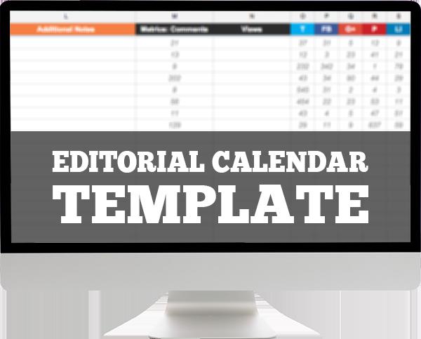 Free Template Editorial Calendar Spreadsheet  Social Media Tips