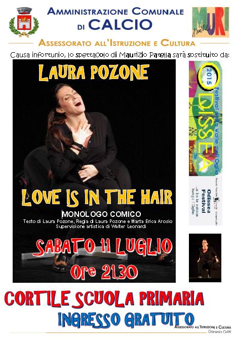 LOVE IS IN THE HAIR Spettacolo comico a Calcio  http://www.panesalamina.com/2015/37548-loro-una-storia-vera-a-calcio.html