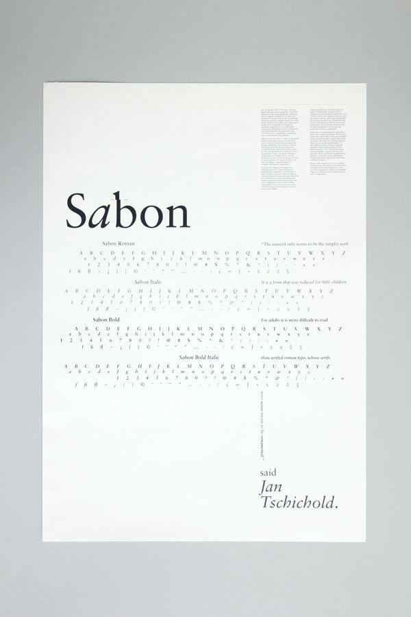 Sabon on Behance | Typography | Typography design, Type posters