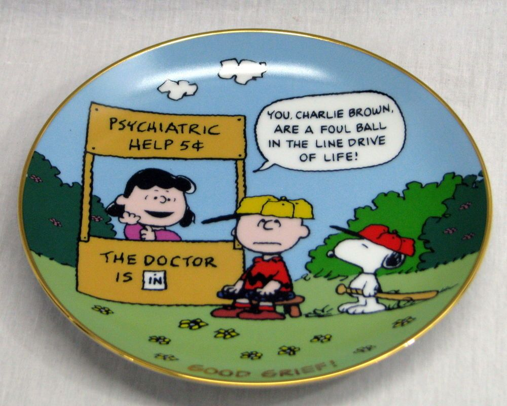Danbury Mint Peanuts Magical Moments Good Grief 1988 Collector Plate LE