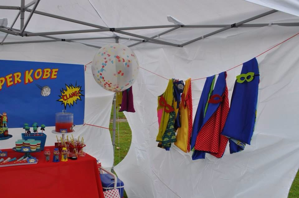 Superhero capes as party favors