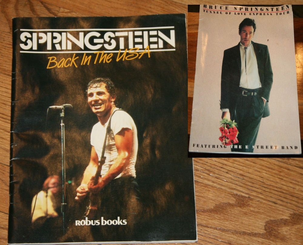 Lot of 2 Bruce Springsteen Tunnel of Love and Back In The USA Concert Tour Books