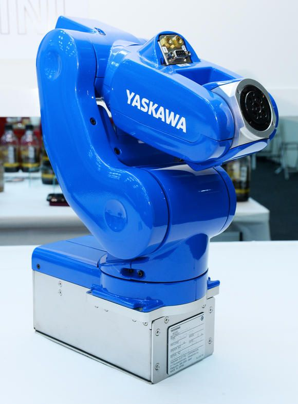Yaskawa's #MotoMini robot is the industry's smallest and lightest